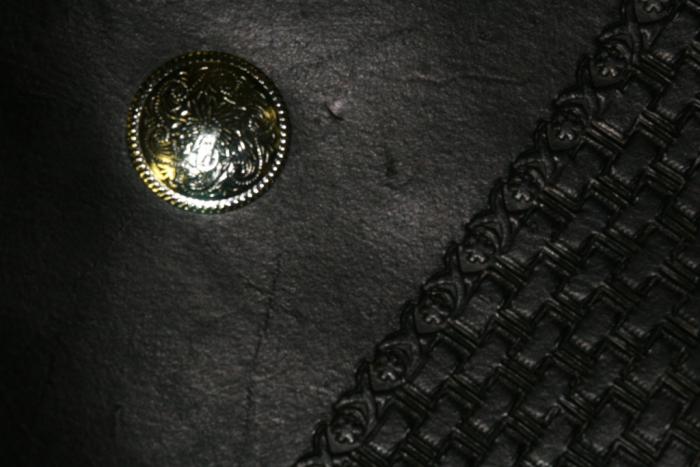 Black Basket Weave Leather Planner Book Cover 4