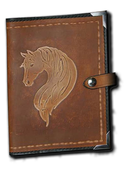 Elegant Mane Leather Planner Book Cover