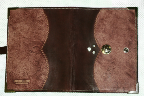 Antique Mahogany Leather Planner Book Cover 3