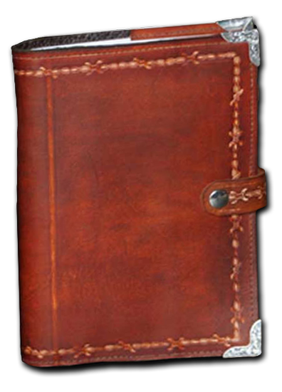 Brown Barbed Wire Leather Planner Book Cover