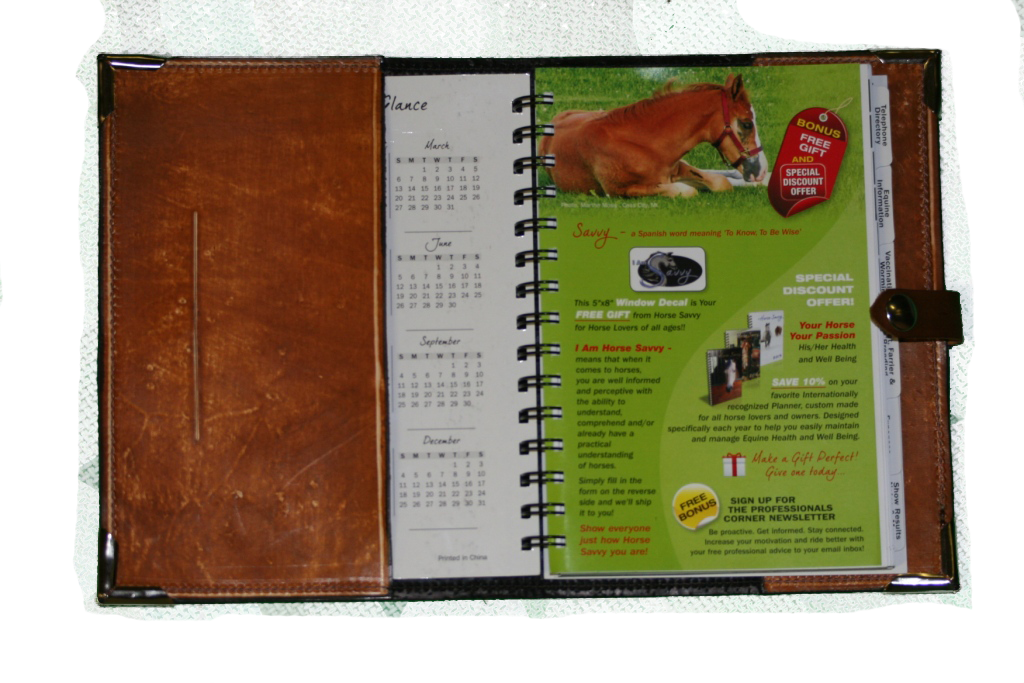 Brown Barbed Wire Leather Planner Book Cover 2