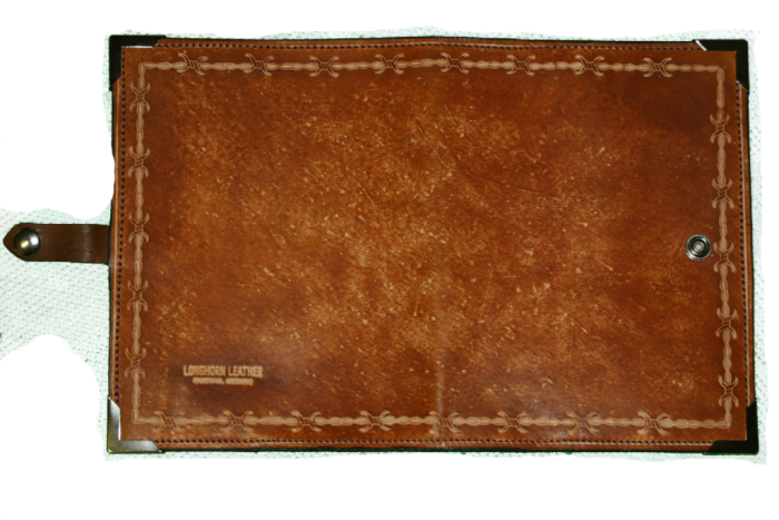 Brown Barbed Wire Leather Planner Book Cover 3
